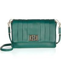 Anya Hindmarch Gracie Pleated Leather Shoulder Bag - Lyst