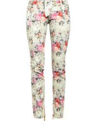 Balmain Printed Midrise Skinny Jeans white - Lyst