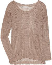 Kain Aire Open Knit Linen Blend Sweater - Lyst