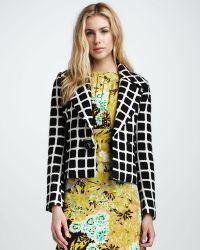Tracy Reese - Printed Tweed Jacket - Lyst