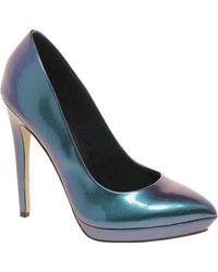 Asos Asos Prop Metallic Pointed Platforms - Lyst