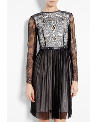 Catherine Deane Maria Monochrome Lace Long Sleeve Dress - Lyst