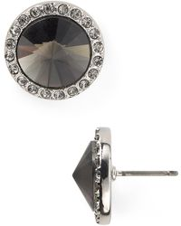 Juicy Couture Cone Stone Stud Earrings - Lyst