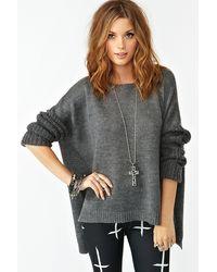 Nasty Gal Fuyu Knit gray - Lyst