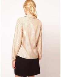 Boutique by Jaeger - Bille Silk Spot Blouse - Lyst