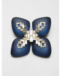Alexis Bittar Jeweled Lucite Pin - Lyst