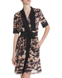 BCBGMAXAZRIA Walena Draped Wrap Dress - Lyst