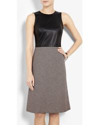 McQ by Alexander McQueen Leather Torso Dress - Lyst