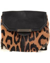 Alexander Wang Cross Body Bag in Leopard Print Haircalf and Black Leather - Lyst