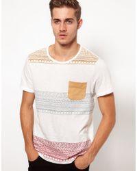 Asos T-Shirt with Aztec Stripe Print - Lyst