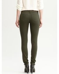 Banana Republic Green Denim Legging - Lyst