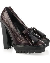 Burberry Prorsum | Moccasin-style Leather Pumps | Lyst