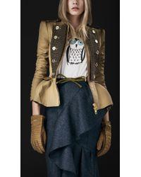 Burberry Prorsum Tailored Cotton Riding Jacket - Lyst