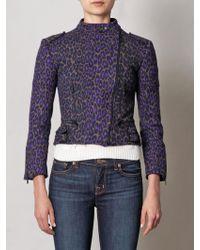 Christopher Kane Leopard Print Biker Jacket - Lyst