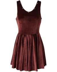 Felder Felder Silk Velvet Skater Dress - Lyst