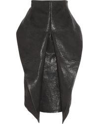 Haider Ackermann Texturedleather Origami Skirt - Lyst