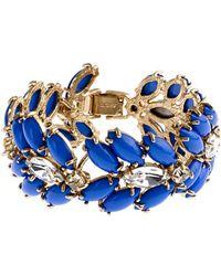 J.Crew Marquess Fleur Bracelet blue - Lyst