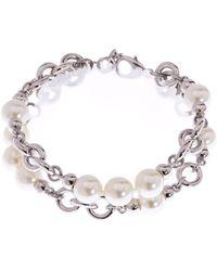 L.K.Bennett -  Pearl Chain Bracelet - Lyst