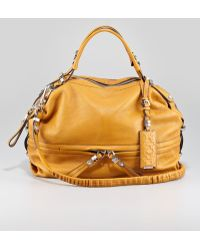 orYANY | Holly Slouchy Satchel Sunset Gold | Lyst