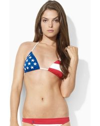 Ralph Lauren Blue Label | Ricky Americanflag Bikini Top | Lyst