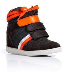 Serafini - Dark Chocolate Suedenubuck Manhattan Wedge Sneakers - Lyst