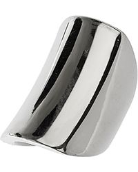 TOPSHOP - Smooth Rectangle Band Ring - Lyst