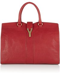 Saint Laurent Cabas Chyc Leather Tote - Lyst