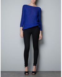 Zara Sweater with Low Cut Back and A Bow - Lyst