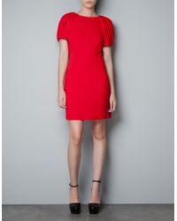 Zara Puff Sleeve Dress - Lyst
