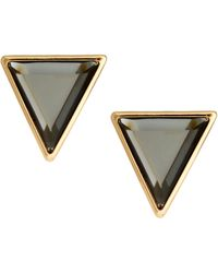 Asos Stone Triangle Stud Earrings - Lyst