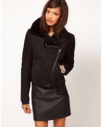 ASOS Collection Asos Limited Edition Shearling Biker Jacket - Lyst