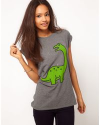 ASOS Collection  T-shirt with Dinosaur Print - Lyst