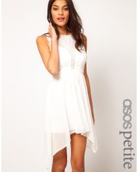 Asos Petite Exclusive Dress with Lace Insert - Lyst
