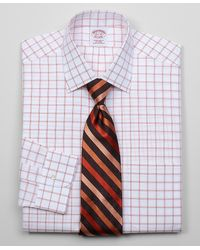 Brooks Brothers Allcotton Noniron Traditional Fit Windowpane Dress Shirt - Lyst