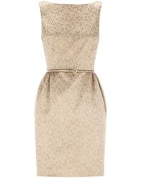Coast Carla Metallic Dress - Lyst