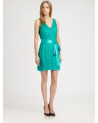 Diane von Furstenberg Derbette Lace Dress - Lyst