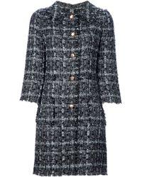 Dolce & Gabbana Check Coat - Lyst