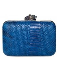 House Of Harlow 1960 Marley Snake Print Clutch - Lyst