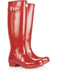 Hunter Original Tall Gloss Wellington Boots - Lyst