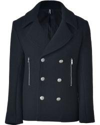 IRO - Black Doublebreasted Woolblend Atom Jacket - Lyst