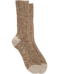 Maria La Rosa Chunky Knit Ribbed Midcalf Socks - Lyst