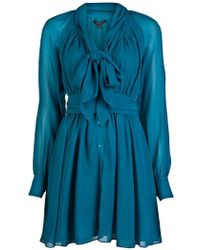 Rachel Zoe Georgette Bishop Sleeve Dress - Lyst