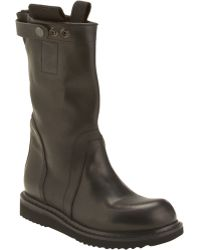 Rick Owens Pullon Wedge Knee Boot - Lyst