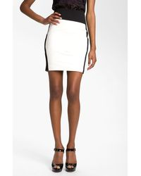 Robert Rodriguez Leather Miniskirt - Lyst