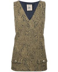 Semi-couture Brocade Sleeveless Top - Lyst