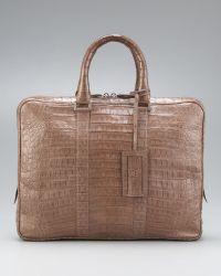 Santiago Gonzalez - Slim Crocodile Briefcase  - Lyst