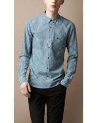 Burberry Brit - Buttondown Gingham Shirt - Lyst