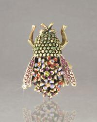 Jay Strongwater - Savita Floral Bumblee Bee Pin - Lyst