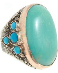 Sandra Dini - Chrysoprase Turquoise Ring - Lyst