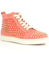 Christian Louboutin Classic Louis Spike Hightop Trainers - Lyst